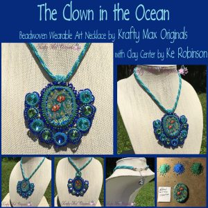 The Clown in the Ocean Beadwoven Necklace with Ke Robinson