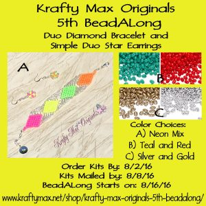 Krafty Max Originals 5th #BeadALong