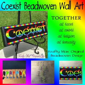 Coexist (Together) Beadwoven Wall Art