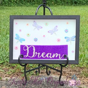 Dream a Little Dream Beadwoven Wall Art (Made Using a Mirrix Loom)