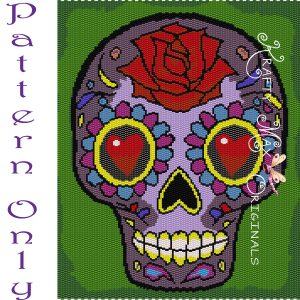 Sugar Skull Beadwoven Wall Art – PATTERN ONLY