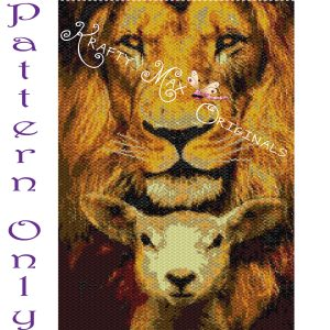 Lion and Lamb Wall Art – PATTERN ONLY