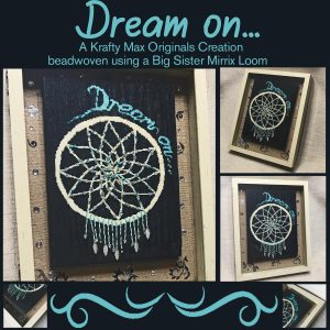 Dream On Beadwoven Art Created with a Big Sister Mirrix Loom