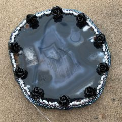 UCK – I Was Sick, Black and White Agate Slice (working) and 9th #BeadALong