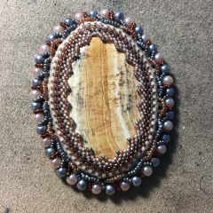 Reveal of Bead Soup Blog Party, Rainbow Spring Beadwoven Necklace, Univeral Mardi Gras Weekend, Brown and Grey Necklace (working) and Branching into the Season #GiveAWay!