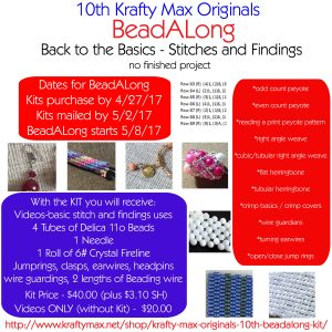 Krafty Max Originals 10th BeadALong – Back to the Basics – Stitches and Findings – VIDEOs ONLY