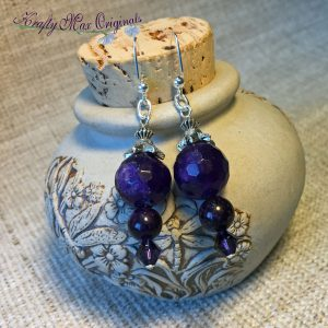 A Dangle of Purple Earrings