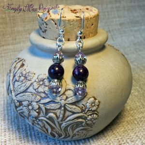 Two Shades of Purple Earrings