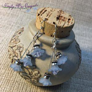 Blue Flowers – TRIPLED – Swarovski Crystal Earrings