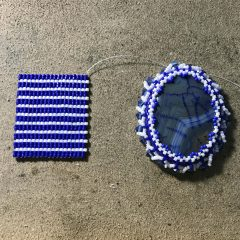 Blue and White Bracelet (working), Geode Necklace and Summer Clean Up Sale!