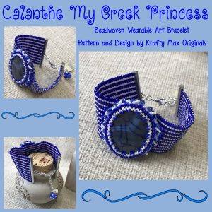 Calanthe My Greek Princess Beadwoven Wearable Art Bracelet