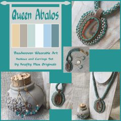 Queen Abalos Beadwoven Wearable Art Necklace Set