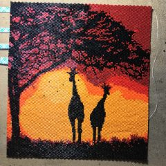 #Summer Clean Up #Sale, Sunset Wall Art (working – 21K beads), Bracelet and Simple Earrings