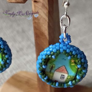 Little House Beadwoven Earrings