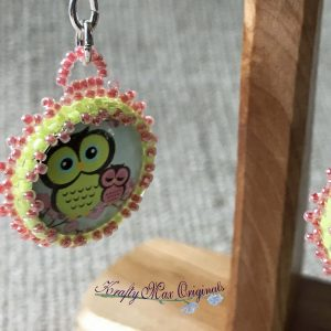 Little Owl Beadwoven Earrings