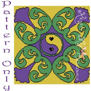 Filigree Purple Green Yellow Pattern RETAIL ONLY – PATTERN ONLY