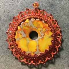 Sunshine Necklace (working), Upcoming GiveAWay (Lisa Wingate), New Listing (Grandmothers Stash) and an Update (BeadALong)