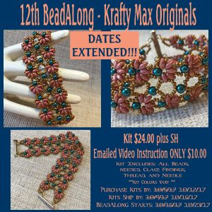 Krafty Max Originals 12th BeadALong EMAILED VIDEO INSTRUCTIONS ONLY