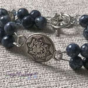 Denim Blue (Dumortierite) Double Strand Bracelet