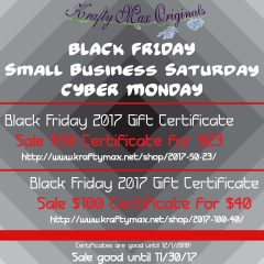 It is time to SAVE!!  Black Friday – Small Business Saturday and CYPER Monday!!