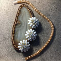 Encouraging Comment, Brown Agate Slice (with flowers working) and Fall Creation Clean Out Sale Extended!