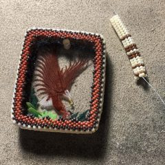 Thank YOU, Blue Tigereye Necklace (new listing) and Beadwoven Eagle (working)