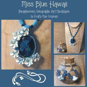 Miss Blue Hawaii Wearable Art Necklace Set