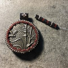 Finishing Red Brown Tan Necklace (almost done), Mixed Agate Necklace Set (new),13th BeadALong and K~Max Klub (discounted until 2/28/18)
