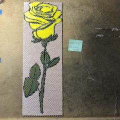 Yellow Rose Beadwoven Wall Art (12,464 beads), Garnets and Gold (new listing), 13th BeadALong and K~Max Klub (discounted until 2/28/18)