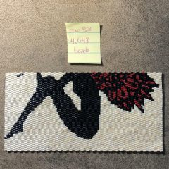 2 NEW LISTINGS, Ivory Black and Red Fairy Art (working-4,648 beads), and Green Magnesite GiveAWay