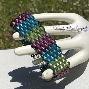 Diamond Twin Triple Color Beadwoven Bracelet