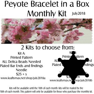 Peyote Bracelet in a Box Monthly Kit July 2018 Kit A