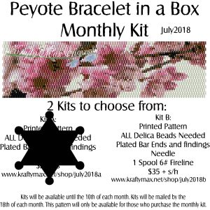 Peyote Bracelet in a Box Monthly Kit July 2018 Kit B