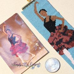 Teal Necklace Set (beads from Jessie James Beads), Dancer Bracelet (done), New Project – Music Note (from Wildlife Plastics) and Peyote Bracelet of the Month (last days)