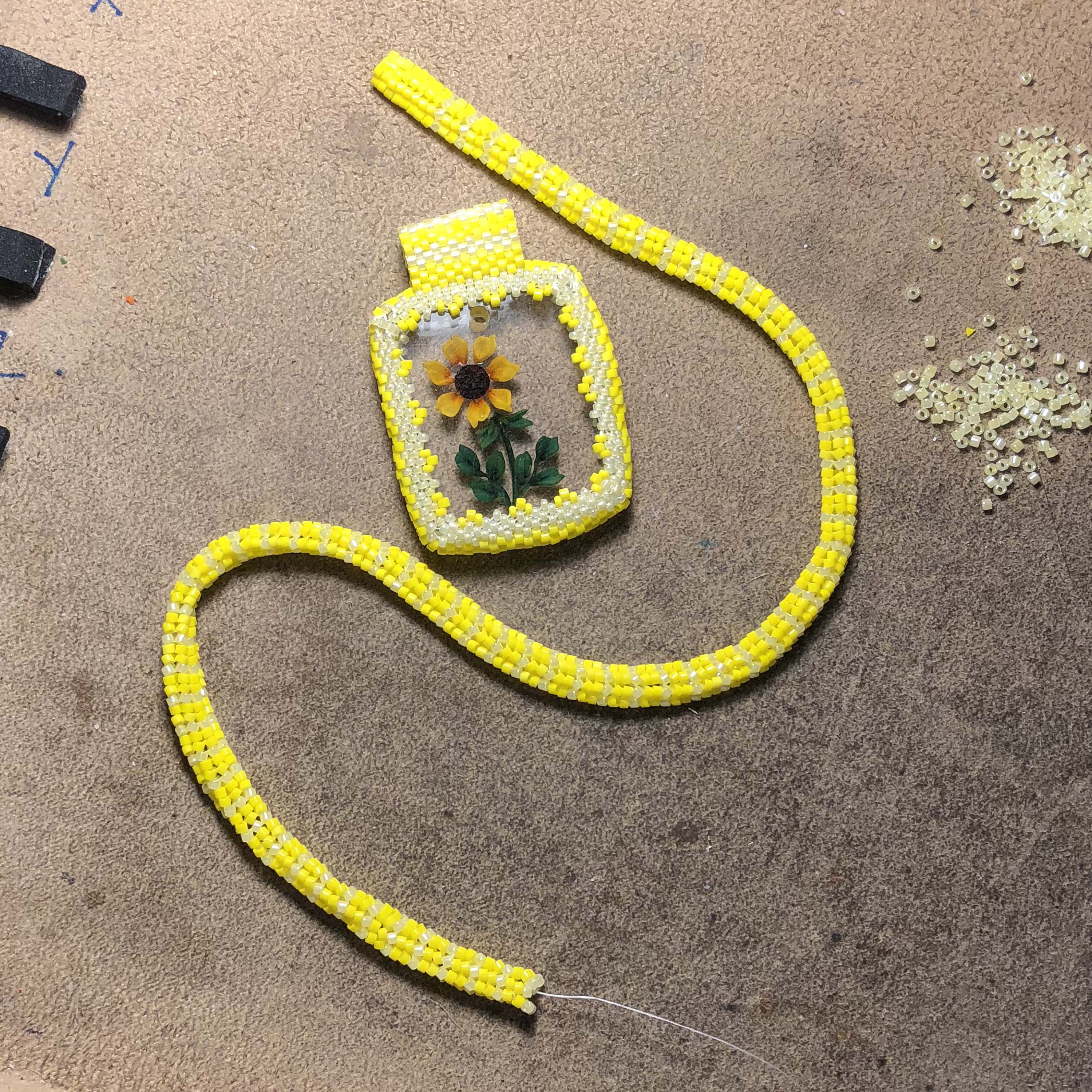 Sunflower Necklace (working - almost done), Whale Necklace (new ...