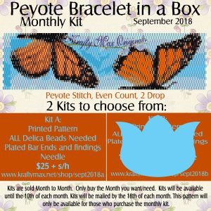 Peyote Bracelet in a Box Monthly Kit September 2018 Kit A