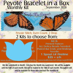 Peyote Bracelet in a Box Monthly Kit September 2018 Kit B