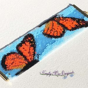 Beautiful Butterfly Beadwoven Bracelet / Cuff