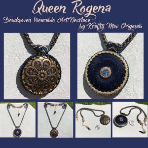 Queen Rogena Beadwoven Wearable Art Necklace