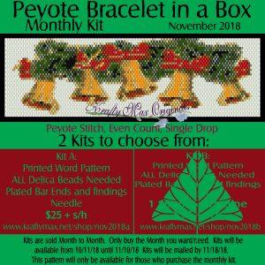 Peyote Bracelet in a Box Monthly Kit November 2018 Kit A