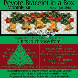 Peyote Bracelet in a Box Monthly Kit November 2018 Kit B