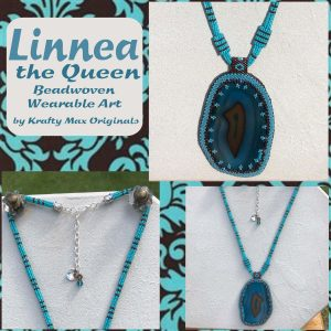 Linnea the Queen Beadwoven Wearable Art Necklace