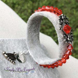 Orange Swarovski Crystal Bracelet
