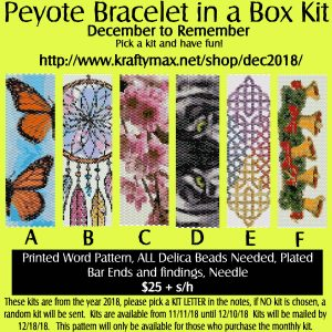 December to Remember Beadwoven Bracelet of the Month Kit 2018