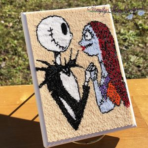 Jack Skellington and Sally In Love for EVER – Beadwoven Wall Art