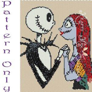 Jack Skellington and Sally Love Forever 5×7 Beaded Wall Art PATTERN
