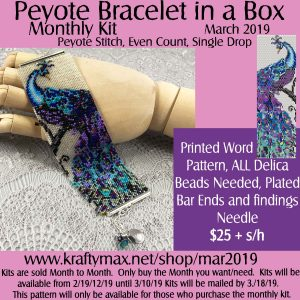 Beadwoven Bracelet of the Month Kit March 2019