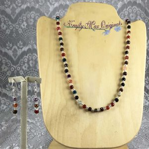 Mini Multi Colored Gemstone Necklace Set