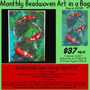 Monthly Beadwoven Art in a Bag – April 2019
