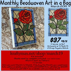 Monthly Beadwoven Art in a Bag – March 2019